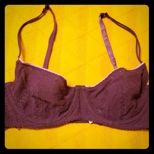 intimately Free People Unlined Lace Bra 36C